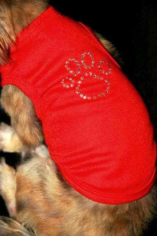 Crystal Dog Paw Shirt
