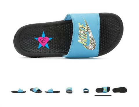 bling nike slides youtube