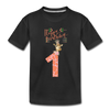 Toddler 1st Birthday T-Shirt | Giraffe Shirt - black
