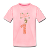 Toddler 1st Birthday T-Shirt | Giraffe Shirt - pink