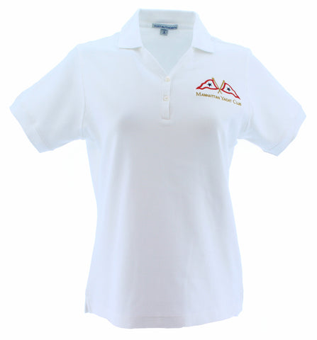Polo - White Ladies w/ MYC Logo
