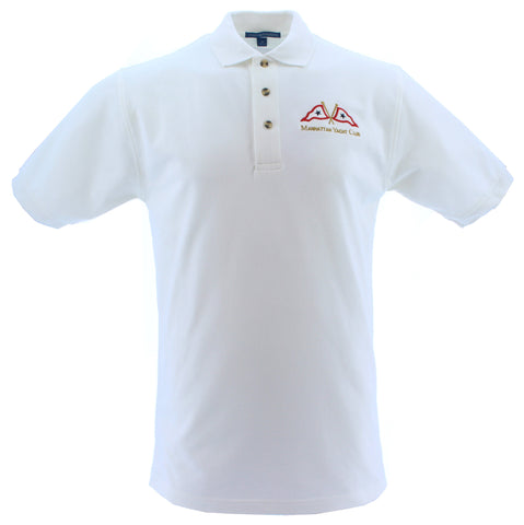 Polo - White Men's w/ MYC Logo