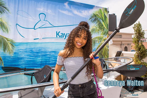 Genneya Watson @ the MTV Movie Awards with Crystal Kayak