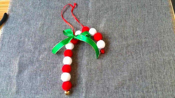How to make needle felted Christmas ornament sugar cane