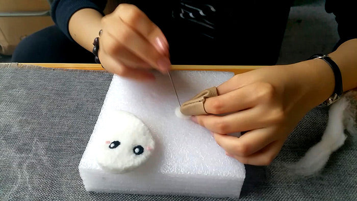 How to make needle felted wool Halloween ghost