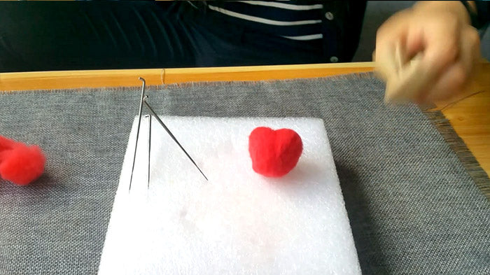 How to make needle felted wool heart