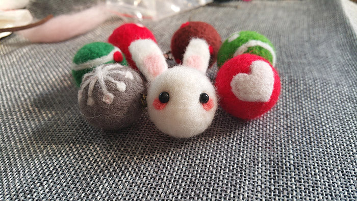 How to make needle felted wool animals bunny