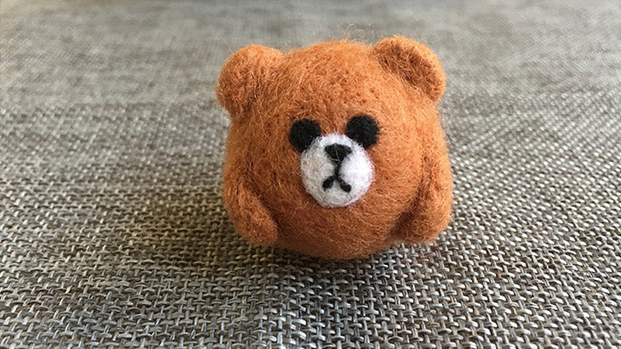 needle felt tutorials for beginners --How to make needle felted cute animal bear