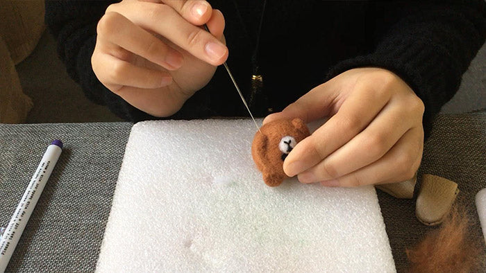 How to make needle felted cute animal bear