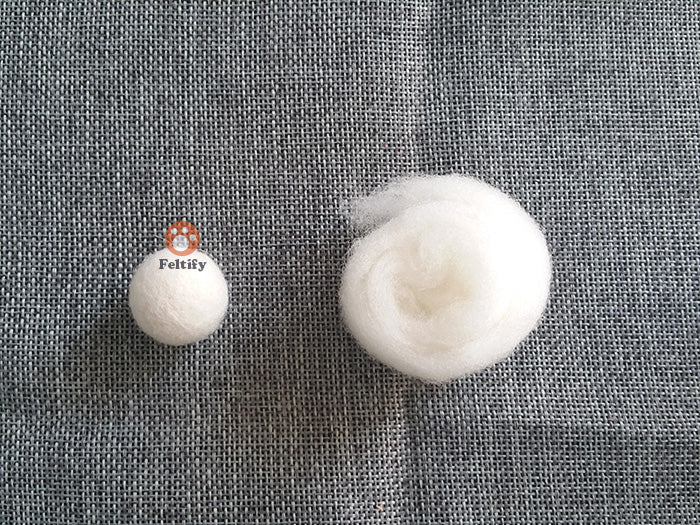 How_much_wool_roving_should_i_take_when_i_make_a_needle_felted_felting_wool_ball_1