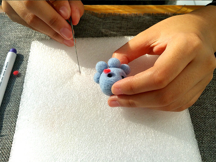 How to make needle felted wool animals Octopus