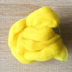 Needle felted wool felting Bright yellow wool Roving for felting supplies short fabric easy felt