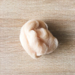 Needle felted wool felting beige skin wool Roving for felting supplies short fabric easy felt