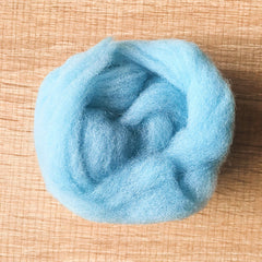 Needle felted wool felting wind blue wool Roving for felting supplies short fabric easy felt
