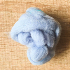 Needle felted wool felting sky blue wool Roving for felting supplies short fabric easy felt