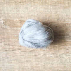 Needle felted wool felting mix light gray wool Roving for felting supplies short fabric easy felt
