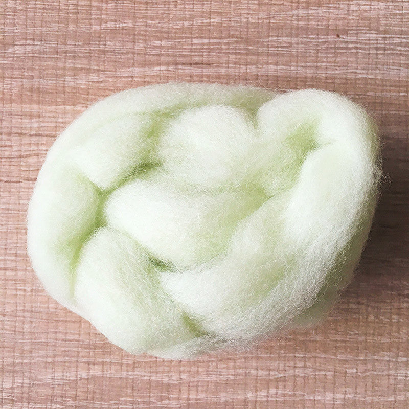 Needle felted wool felting pink green wool Roving for felting supplies short fabric easy felt