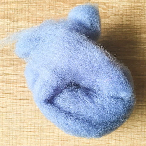 Needle felted wool felting blue gray wool Roving for felting supplies short fabric easy felt