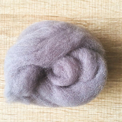 Needle felted wool felting modest gray wool Roving for felting supplies short fabric easy felt