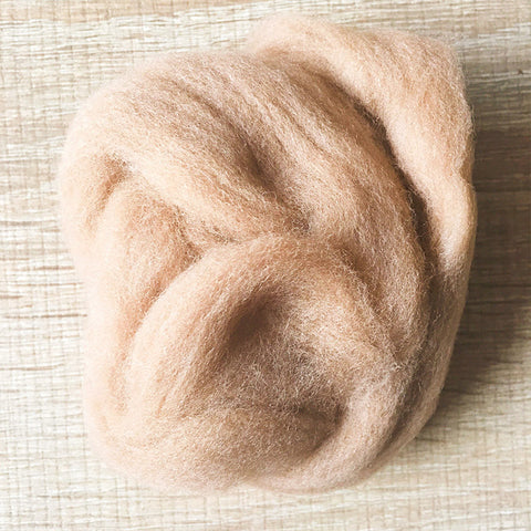 Needle felted wool felting milk coffee wool Roving for felting supplies short fabric easy felt