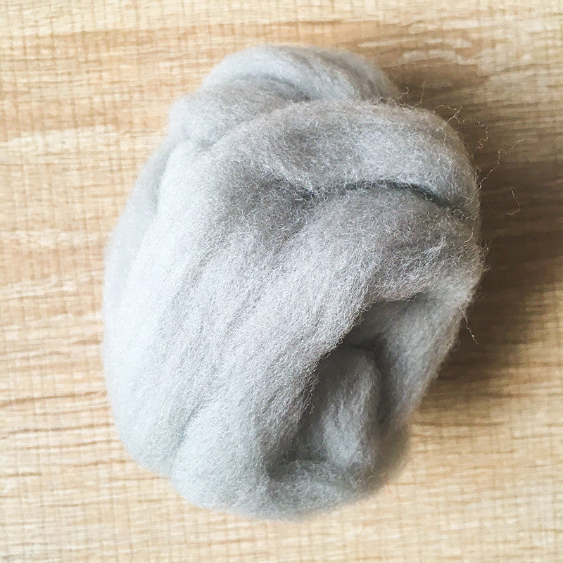 Needle felted wool felting gray wool Roving for felting supplies short fabric easy felt