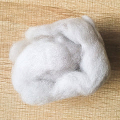 Needle felted wool felting light gray wool Roving for felting supplies short fabric easy felt