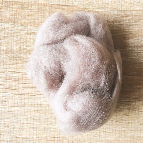 Needle felted wool felting light gray camel wool Roving for felting supplies short fabric easy felt