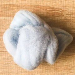 Needle felted wool felting ice blue wool Roving for felting supplies short fabric easy felt