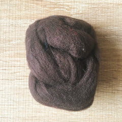 Needle felted wool felting black chocolate wool Roving for felting supplies short fabric easy felt