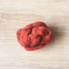 Needle felted wool felting red bean wool Roving for felting supplies short fabric easy felt