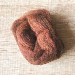 Needle felted wool felting mix nut wool Roving for felting supplies short fabric easy felt