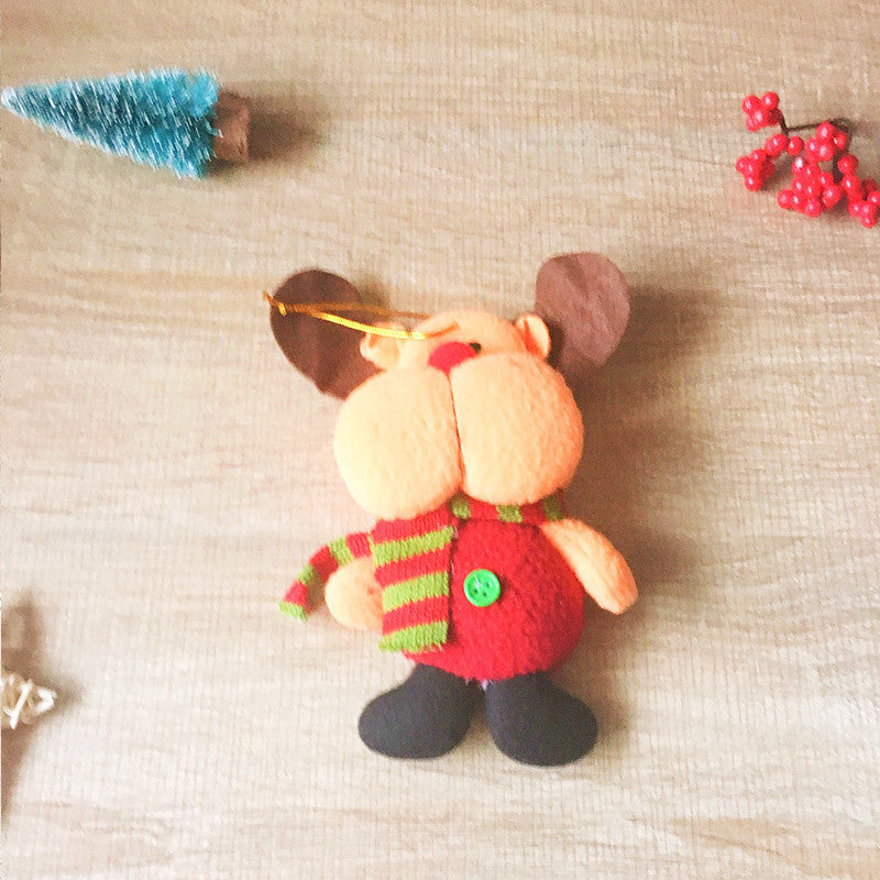 christmas cute decoration christmas reindeer ornament felt knitting