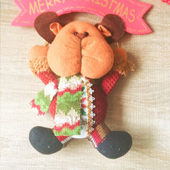 Christmas Cute Decoration Christmas reindeer ornament felt knitting holiday xmas
