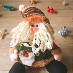 Christmas Cute Decoration Christmas santa decoration ornament felt knitting holiday xmas