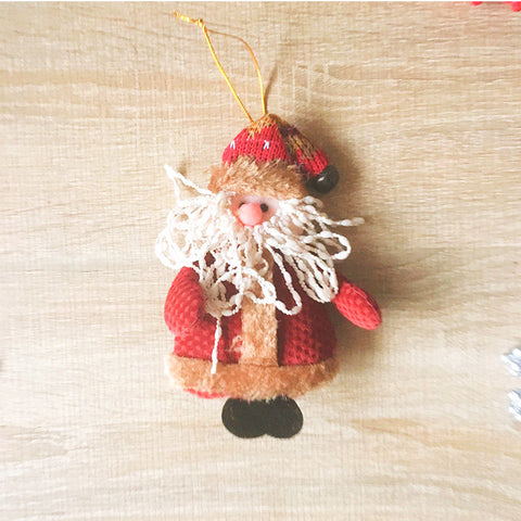 Christmas Cute Decoration Christmas santa ornament felt knitting holiday xmas