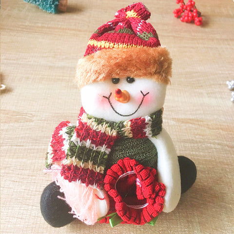 Christmas Cute Decoration Christmas snowman decoration ornament felt knitting holiday xmas
