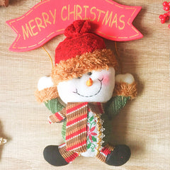 Christmas Cute Decoration Christmas snowman ornament felt knitting holiday xmas
