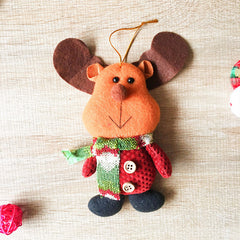 Christmas Cute Decoration Christmas tree Reindeer ornament felt knitting holiday xmas