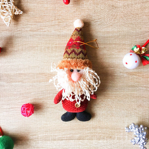 Christmas Cute Decoration Christmas tree Santa ornament felt knitting holiday xmas