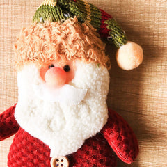 Christmas Cute stocking Decoration Christmas tree Santa ornament felt knitting holiday xmas