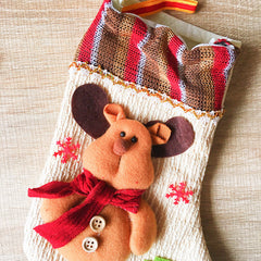 Christmas Cute stocking Decoration Christmas tree reindeer ornament felt knitting holiday xmas