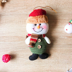 Christmas Cute Decoration Christmas tree snowman ornament felt knitting holiday xmas