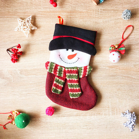 Christmas Cute stocking Decoration Christmas tree snowman ornament felt knitting holiday xmas