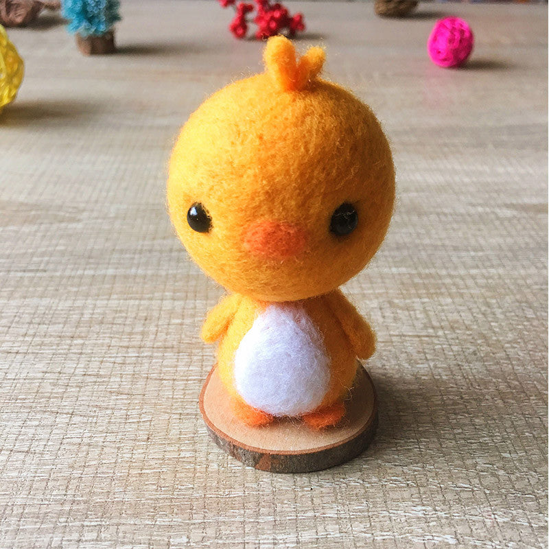 Handmade Needle felted cat felting kit project Animals chicken cute for beginners starters