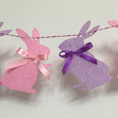 Felt birthday flag baby cute bunny shower banner kids Baby Birthday Party kid room decor Garland