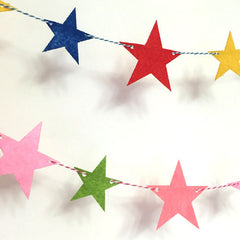 Felt birthday flag stars banner kids Baby Shower Bridal Shower Birthday Party kid room decor Garland