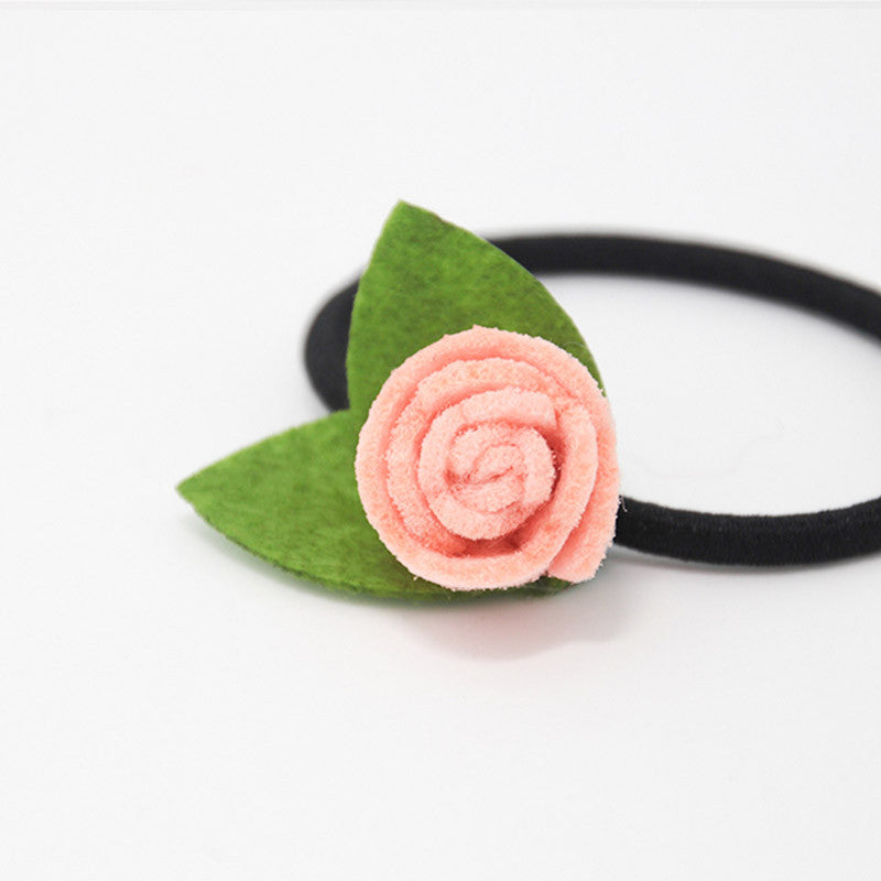 Felt Hair Bow Tie Flower Rose Leaf Jewelry Craft