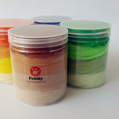 Felting Wool For Needle Felting Wool Roving Wet Felt Colorful Short Fiber