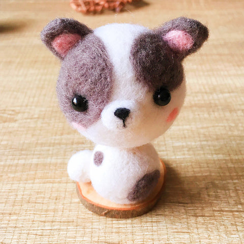 Handmade Needle felted dog felting kit project Animals Dalmatians cute for beginners starters
