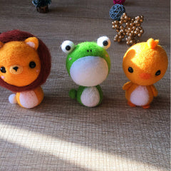 Handmade Needle felted cat felting kit project Animals frog cute for beginners starters